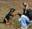 M-litter 16 weeks reunion - Tyson with his owner Kristina